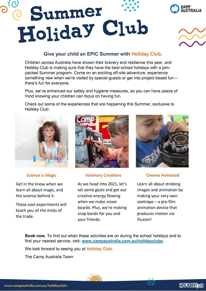 Newsletter - Summer Holiday Club.pdf